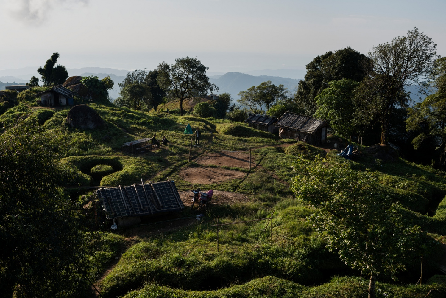 Overview of Lagat Bum, one of the K.I.A. frontline outposts near Mai Ja Yang in Kachin State, Myanmar.