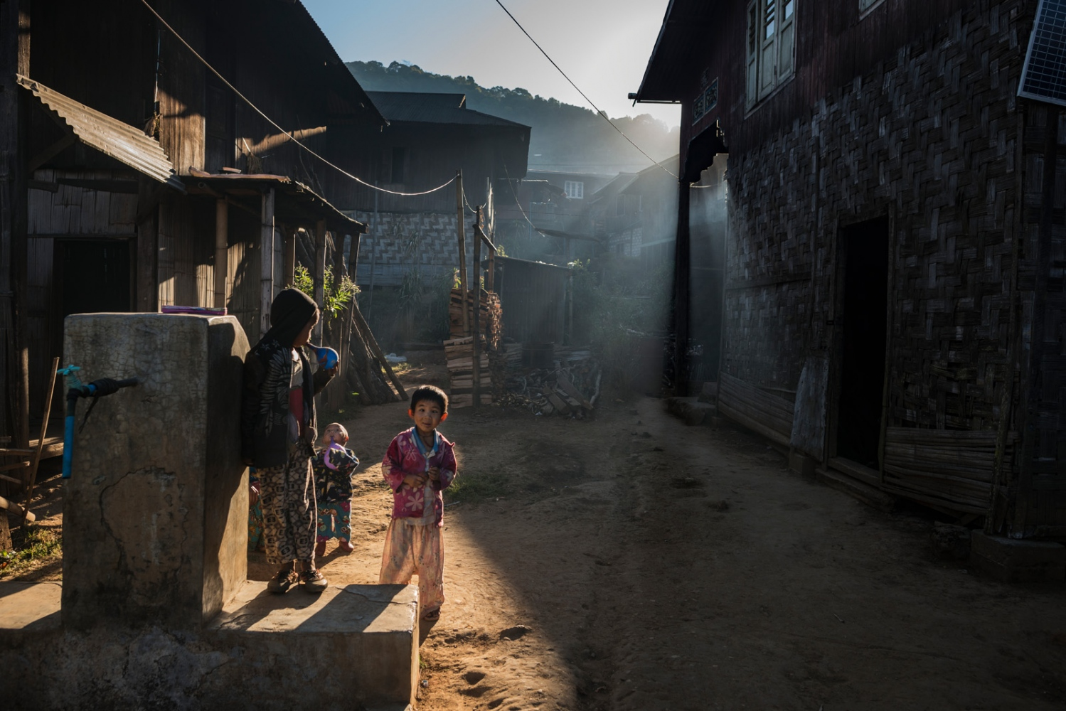 Children in the streets of a opium producing village in Shan State, Myanmar. Most farmers and workers here say they would rather grow something else than poppy, but that it is the only way for them to send the kids to school.
