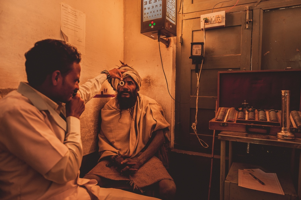 The first station patients visit at the Sadguru Netra Chikitsalaya (SNC) hospital in Chitrakoot, India.