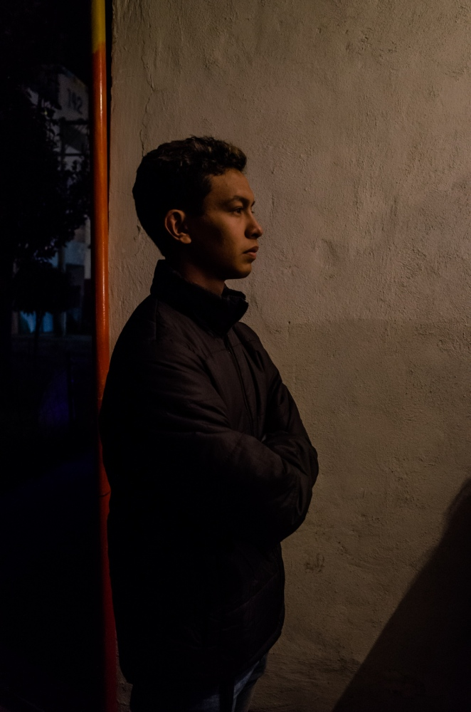 Puebla, Dec 2016. Toño is a 17-year-old teenager who lives in Puebla, a few months ago he found a new job; therefore it is important for him to pay a tribute to the Virgin by taking part in the annual pilgrimage.