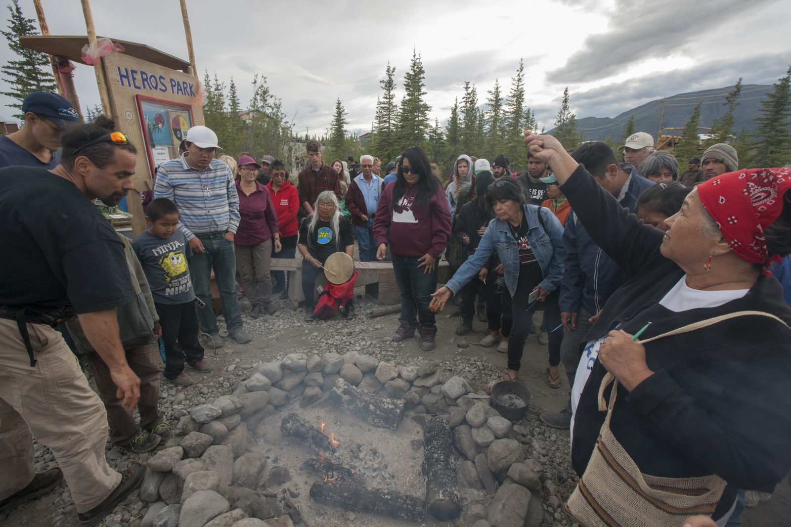 Art and Documentary Photography - Loading 6_Ario_Daniel_Z_hoo_Joins_the_Tobacco_ceremony_at__22Heros_Park_22_in_Arctic_Village_Alaska_06R2503.jpg