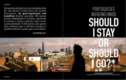 Assignment for Notícias Magazine about Brexit and Portuguese people living in London.