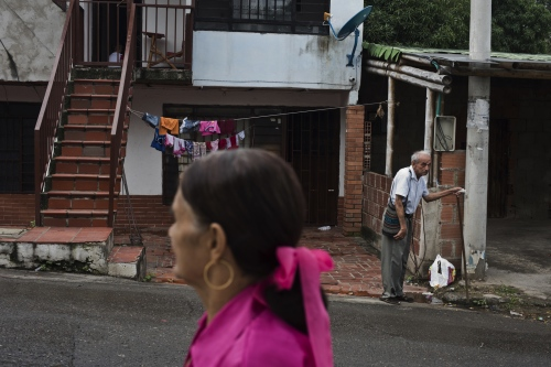 Front of building where the Pastran Rodriguez family lives in the La Libertad neighborhood on March 2017 in Cucuta, Colombia.