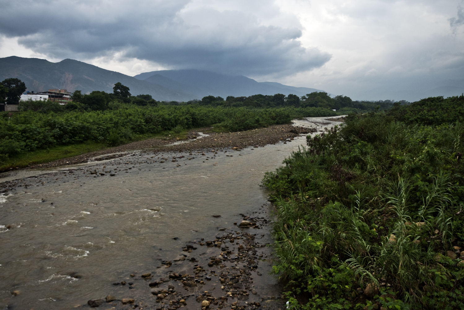 Tachira River between Colombia and Venezuela on March 2017 in Cucuta, Colombia.