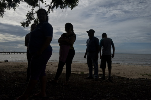 A group of Venezuelan citizen are waiting to depart to Venezuela in Cedros port of Trinidad and Tobago. As economy crumbles in Venezuela , desperate people travel 10 hours to buy food, supplies across the water in Trinidad, and some Venezuelans are new  immigrants workers in Trinidad.