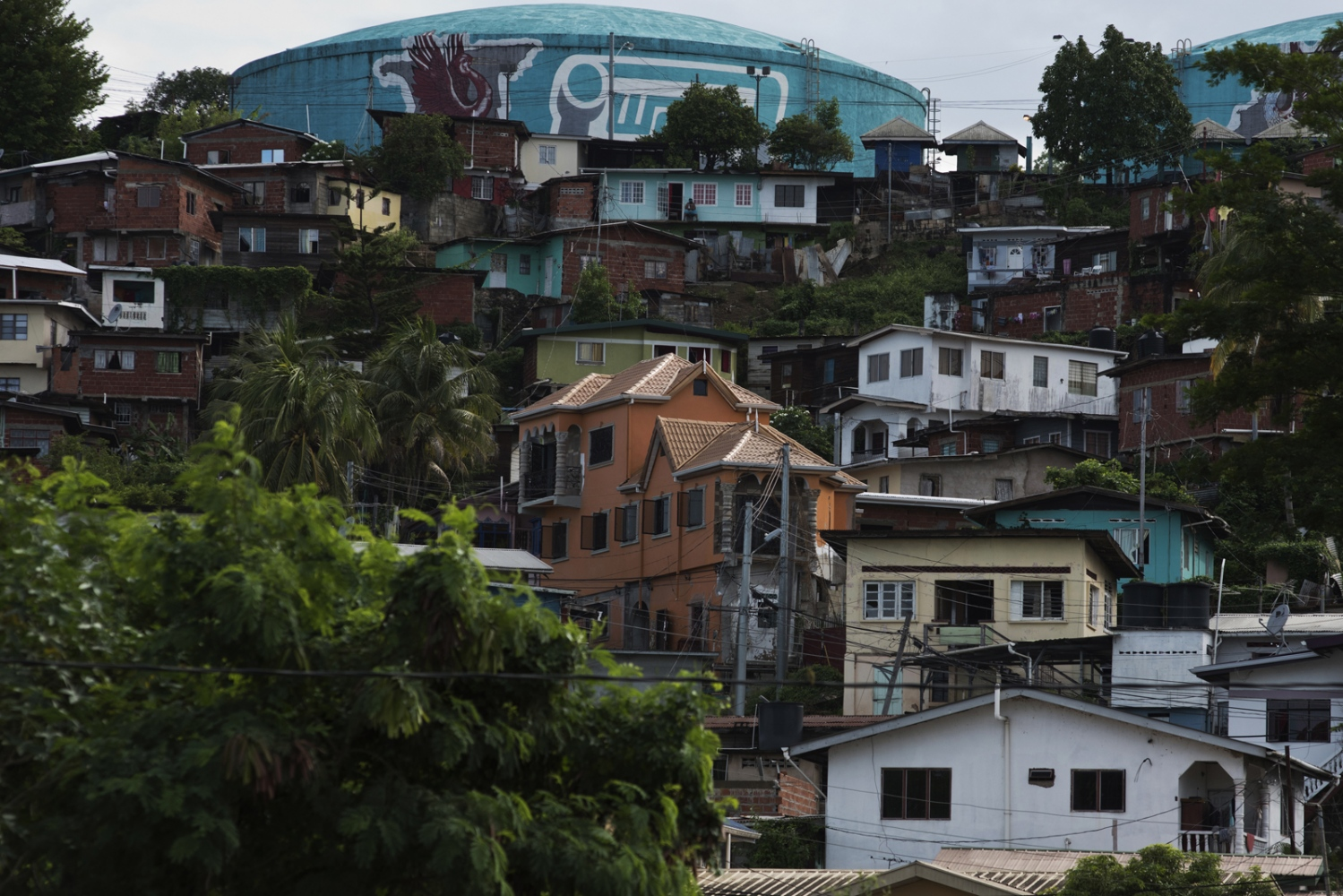 General view in Port-of-Spain the capital city of the Republic of Trinidad and Tobago. As economy crumbles in Venezuela , desperate people travel 10 hours to buy food, supplies across the water in Trinidad, and some Venezuelans arenew immigrants informal workers in Trinidad.