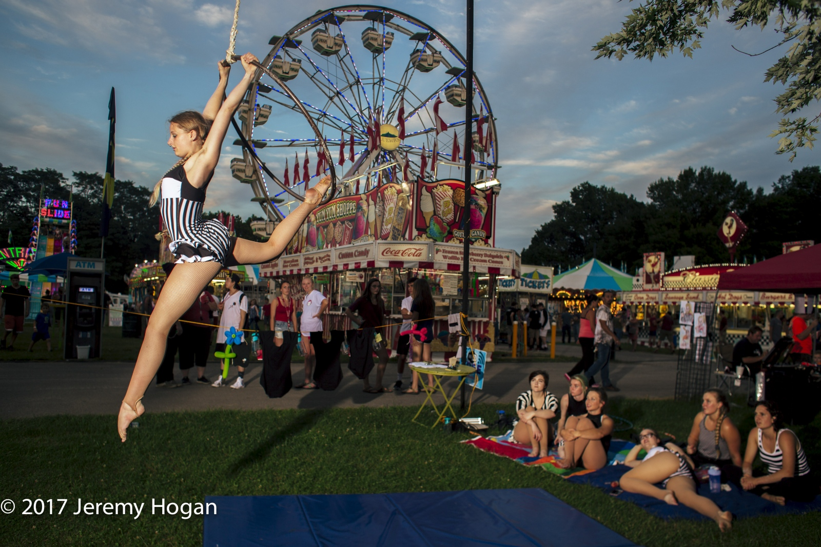 Aerialist. Indiana Fair. July 31, 2017 (Photo...