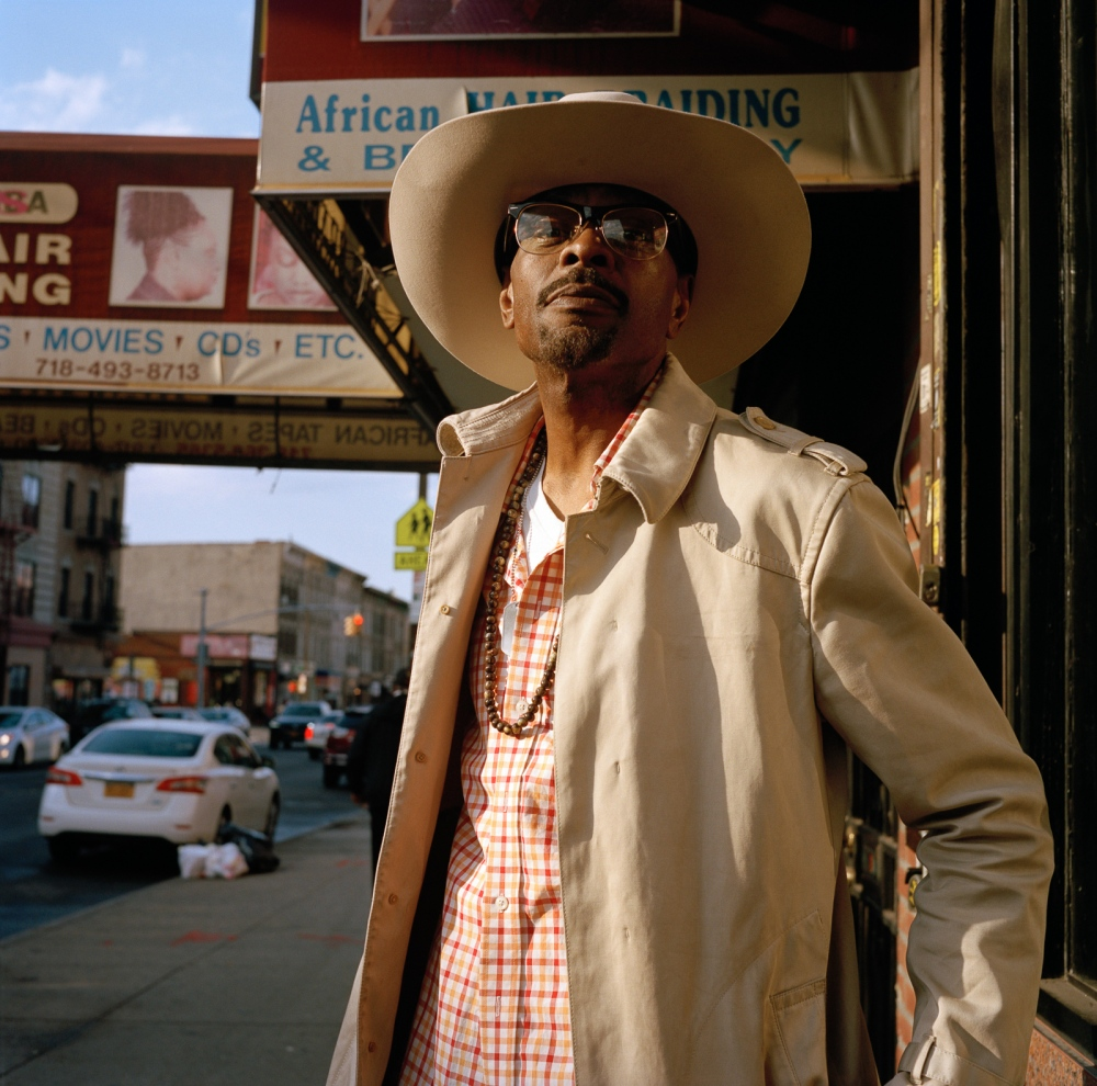 April 6, 2017 - Brooklyn, New York City, NY, USA - Utica Avenue and St. John's Place. Diego Brown, writer, singer and stylist. The social safety net that exists within this tight-knit community risks of being severed due to high rental prices.
