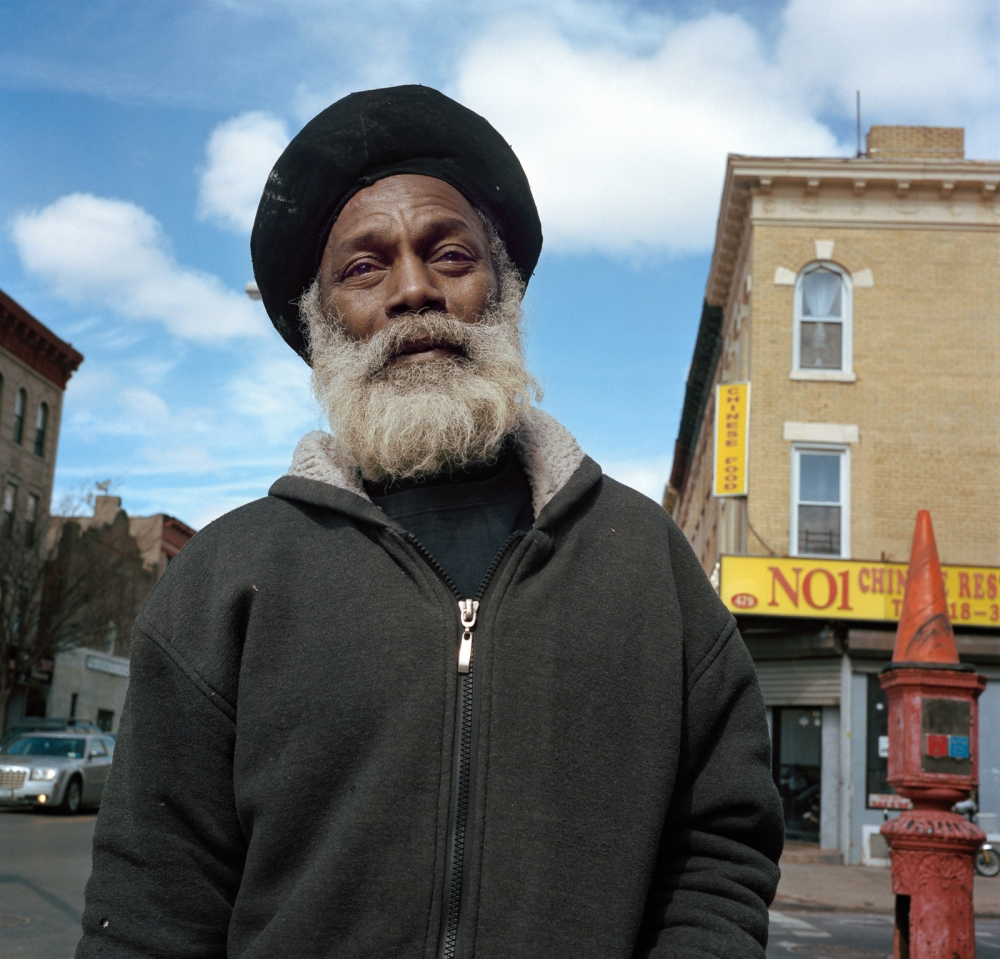 """March 12, 2017 - Brooklyn, New York City, NY, USA - Prospect Place and Ralph Avenue. Wayne Thompson is originally from St Kits. Crown Heights is also known as the """"Little Caribbean"""" as a large majority of the population is West Indian and Caribbean."""
