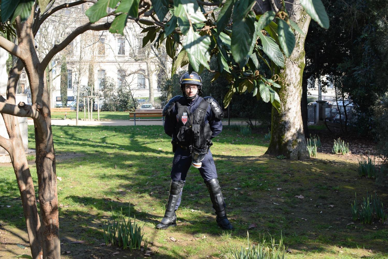 February 16, 2016 - Lyon, France. Protestsagainstthelaborlawreformturnedviolent.Frenchsecurityforceswerenumerousassomeoftheprotestsagainstthelaborlawreform.