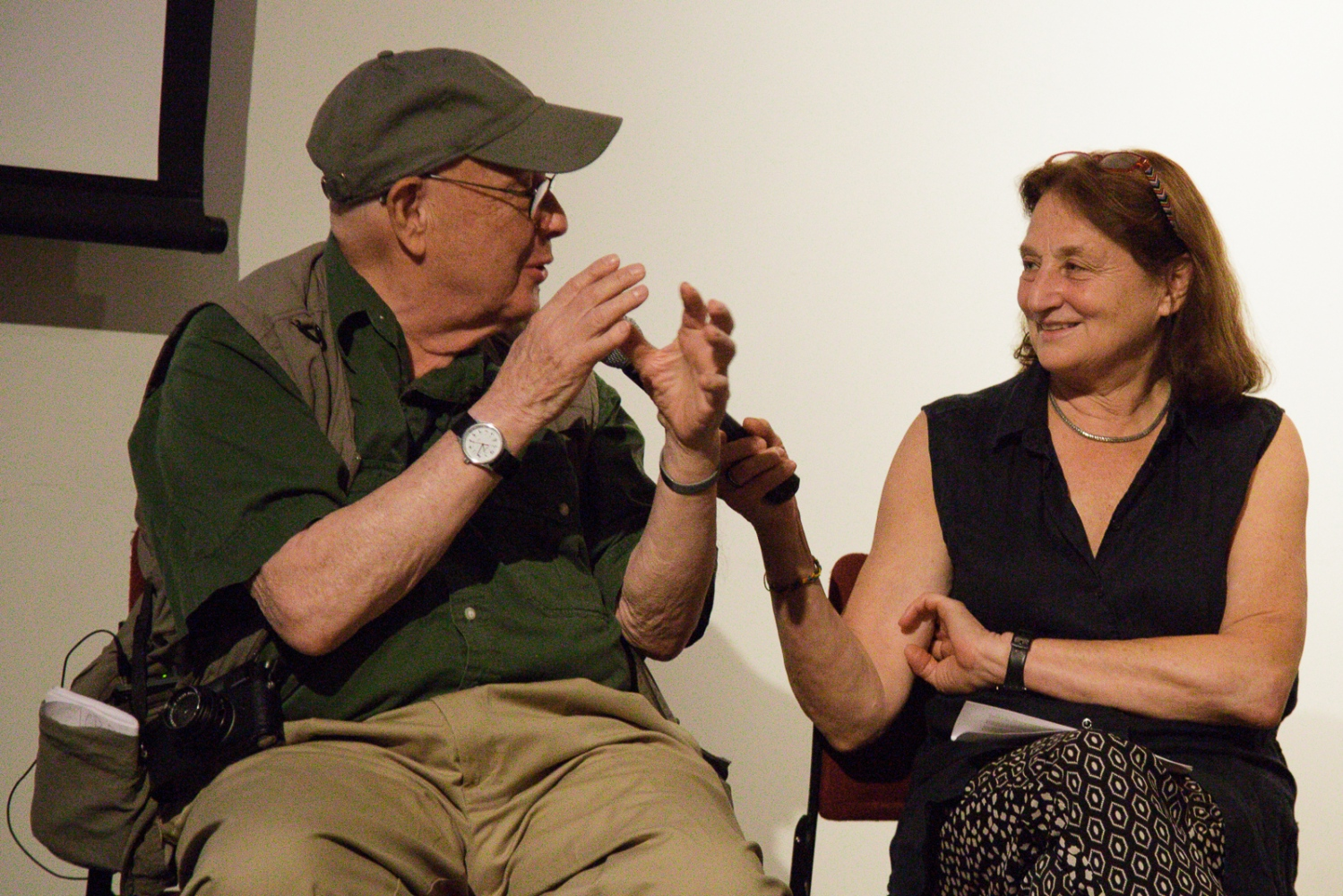 "June 21, 2017 - International Center of Photography School. New York City, NY, USA -Bruce Davidson and Susan Meiselas during the ""Magnum Photos Now- Photobooks: History, Future, Form"" event."