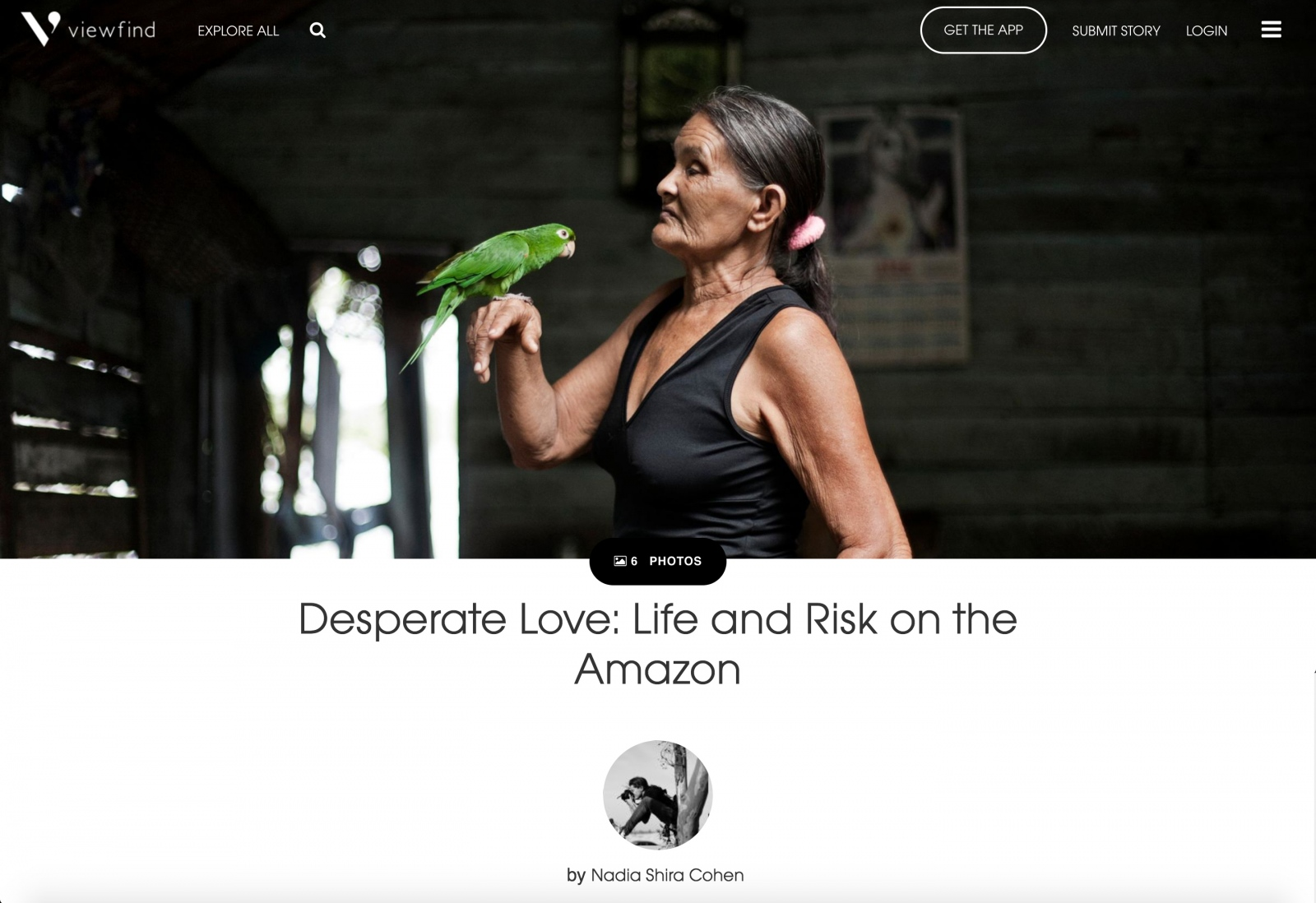 """Desperate Love: Life and Risk on the Amazon"" by Nadia Shira Cohen"