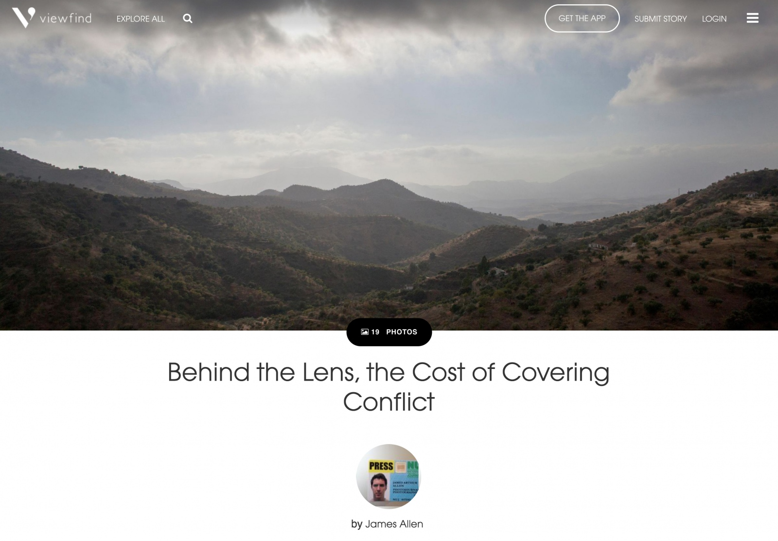 """Behind the Lens, the Cost of Covering Conflict"" by James Allen"