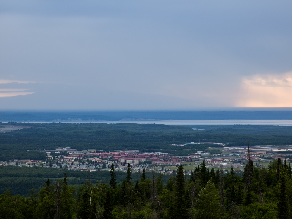 JBER (Joint Base Elmendorf-Richardson), as seen from Arctic Valley. Anchorage has a very visible millitary presence, and 1 in 3 people in Alaska are veterans.