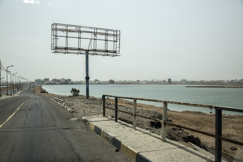 The roads of Aden, capital of the south part of Yemen.