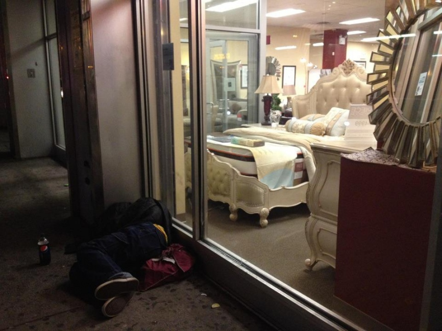 Photography image - Street Sleeper, Harlem