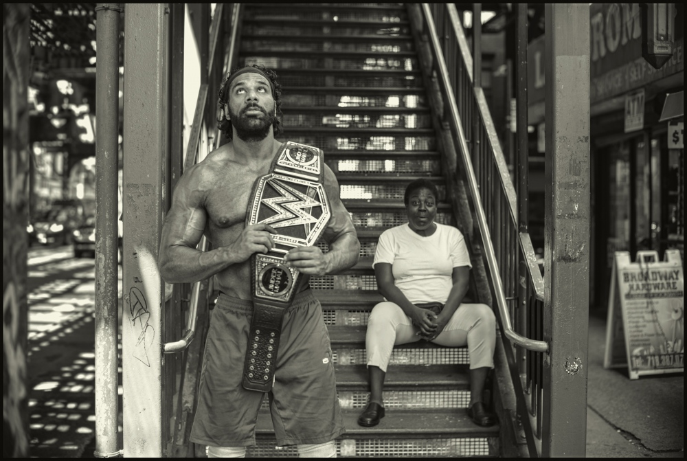 WWE champion, Jinder Mahal, Brooklyn, New York City.  August 2017.