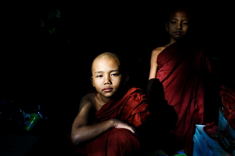 Photography image - Little Buddhist _ Trip to Myanmar 2015