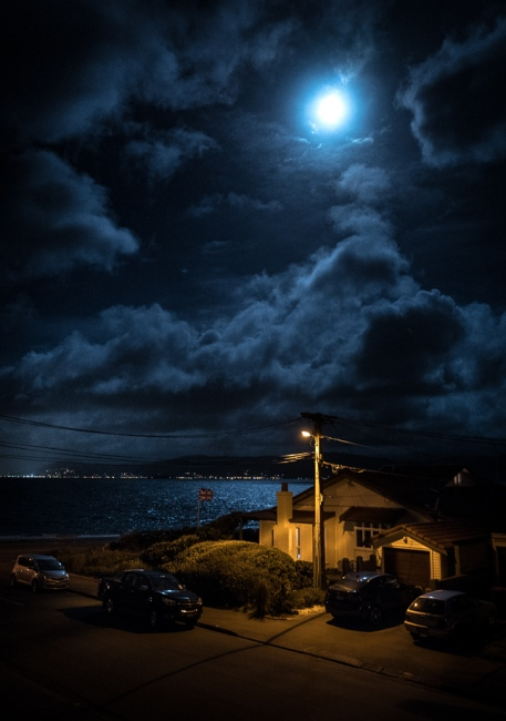 Photography image - Magic - the view from my balcony. Seatoun, New Zealand 6th of September 2017