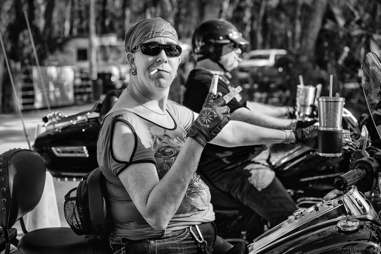 Biker Chick Bikers at the Cabbage Patch Bar