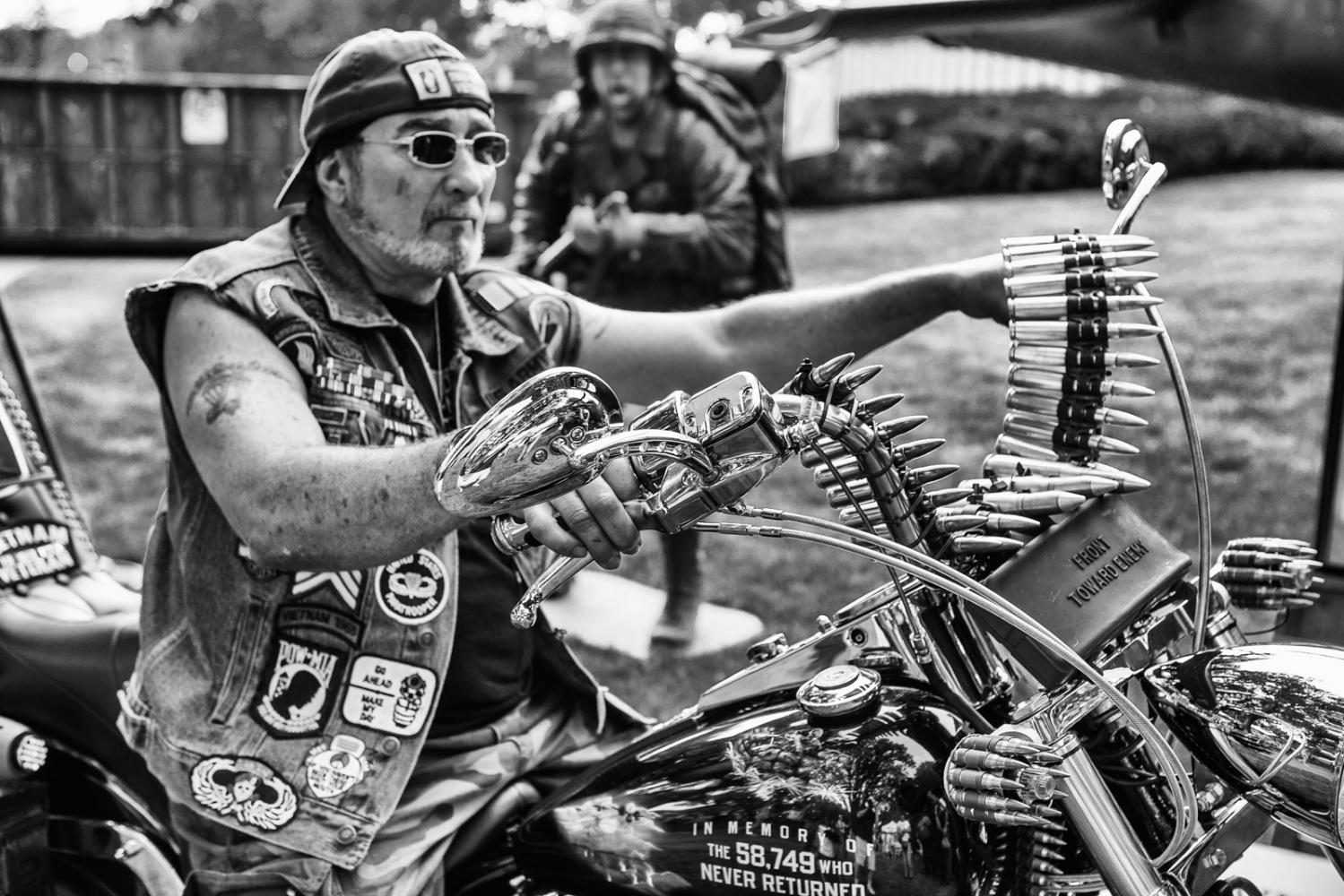 Front Toward Enemy Vietnam Veteran Custom Motorcycle