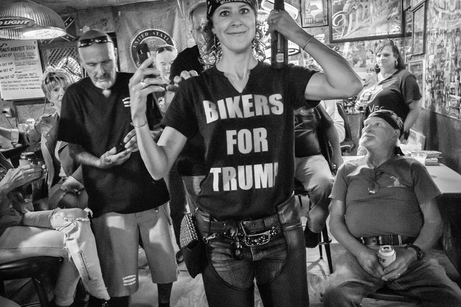 Bikers for Trump Cabbage Patch Bar, Samsula, Florida