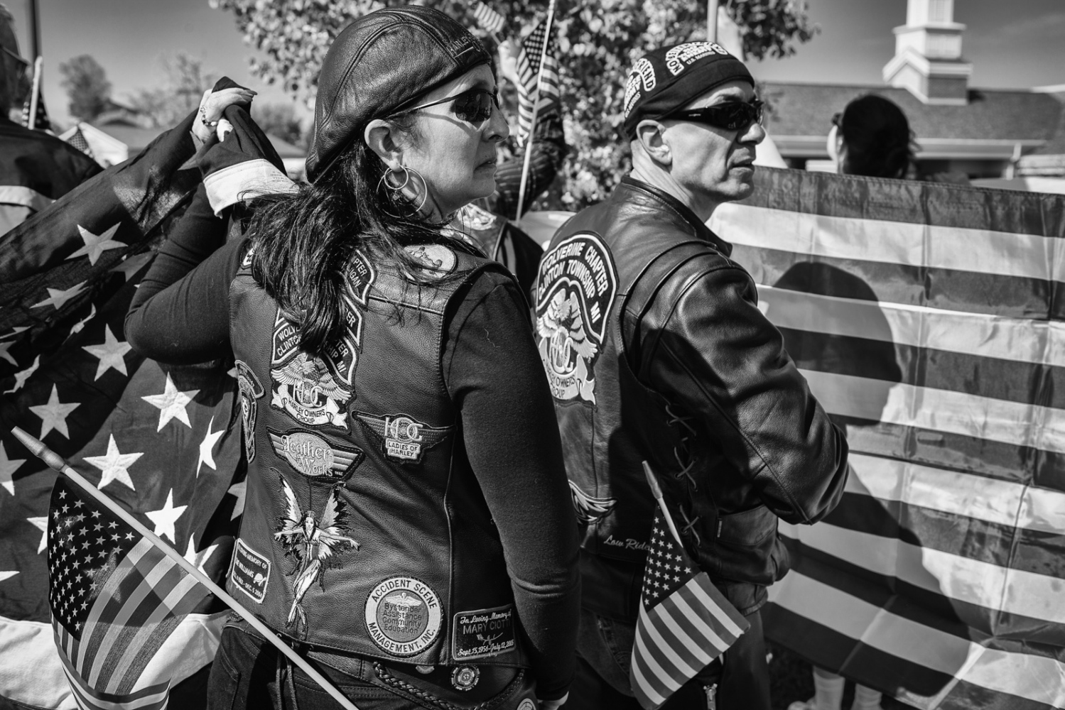 Bikers at Funeral for American Soldier killed in Iraq/Afghanistan