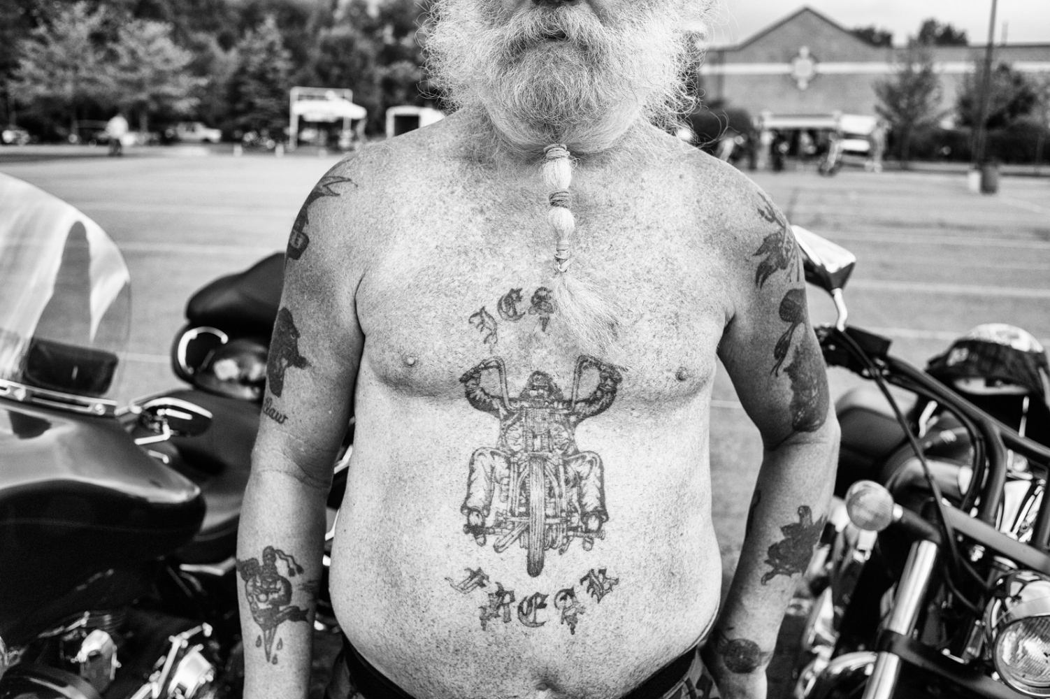 Tattoo of biker riding, Livonia, MI
