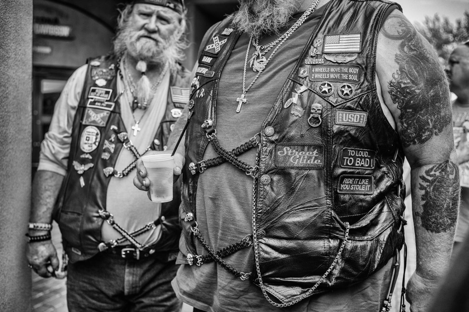 Old bikers, Ormond Beach Harley, Florida