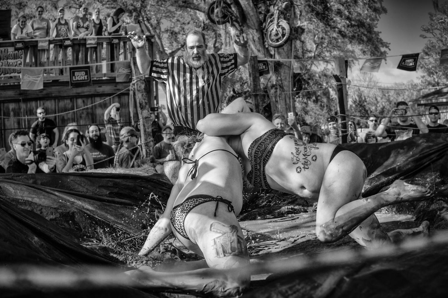 Mud Wrestling BikeWeek 2016 at the No Name Bar, Edgewater, Florida