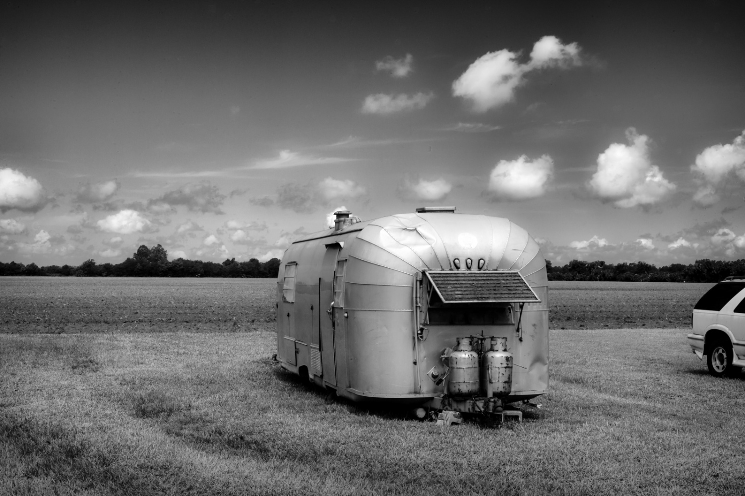 Old Air Stream Abandoned trailer on CR-305, Florida