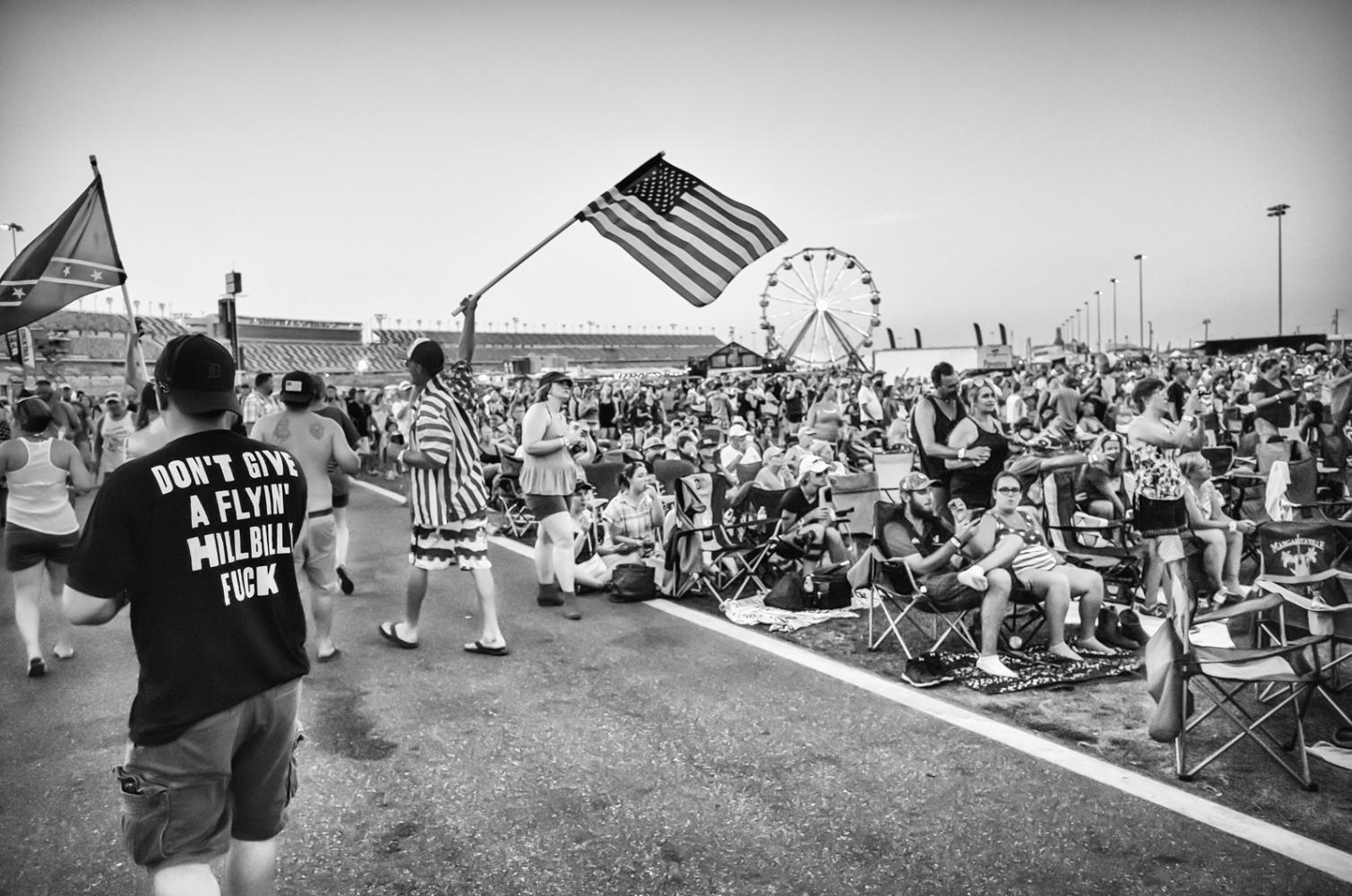 Hillbilly F__k Country 500 music fest. Daytona Int'l Speedway