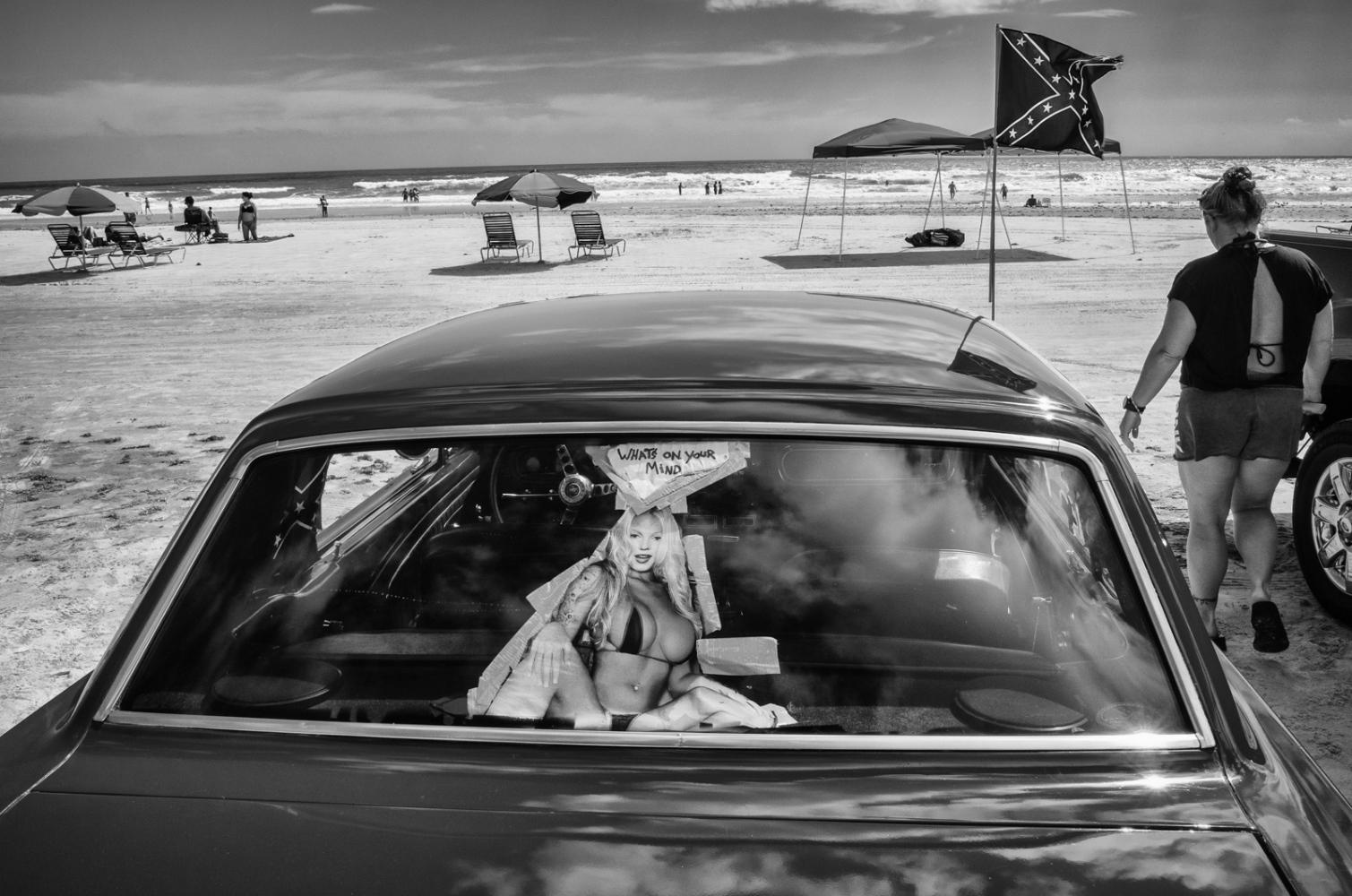 Daytona Beach Mustang on the beach