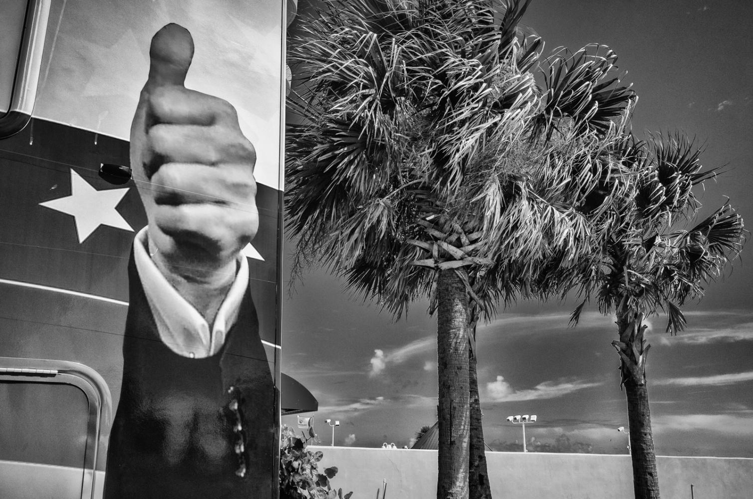 Trunp Thumb Campaign Truck, Daytona Beach