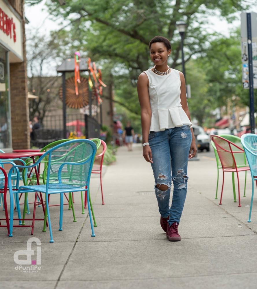 Streets of Rochester, NY. MODEL shoot