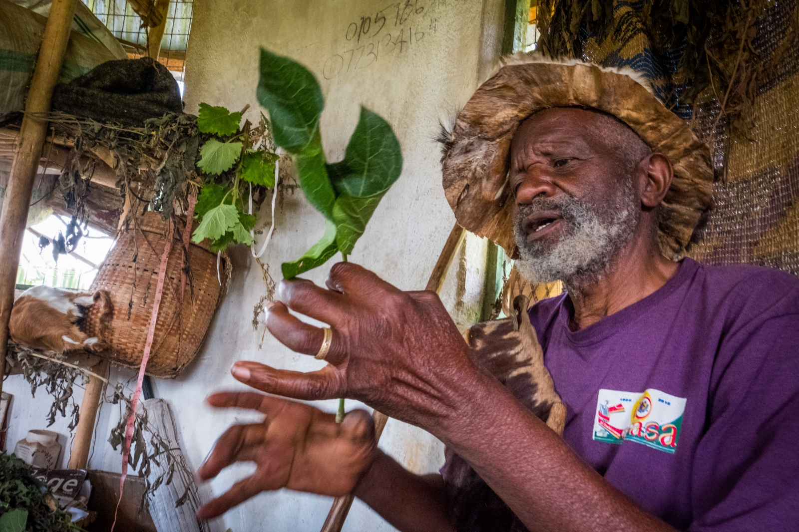 Traditional Healer.Buhoma, Uganda.