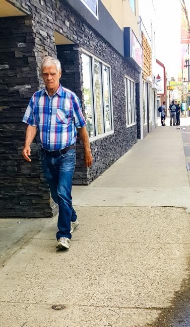 Photography image - Walking down 20th Street Saskatoon, SK Canada