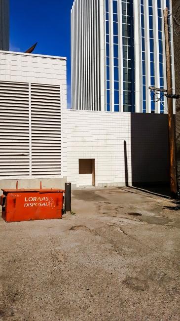 Photography image - Parking lot, business district  Saskatoon, SK Canada
