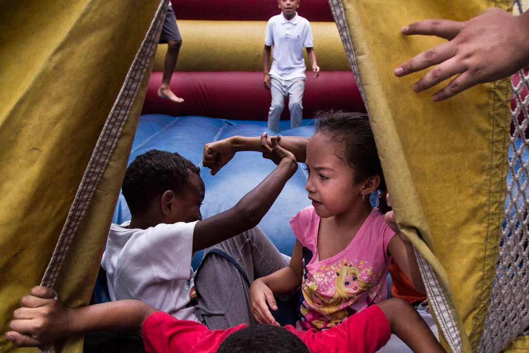 Children playing in a Caracas slum.