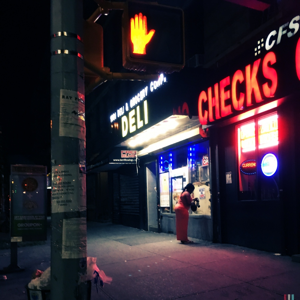 """Solitary, 2am, East Harlem"""
