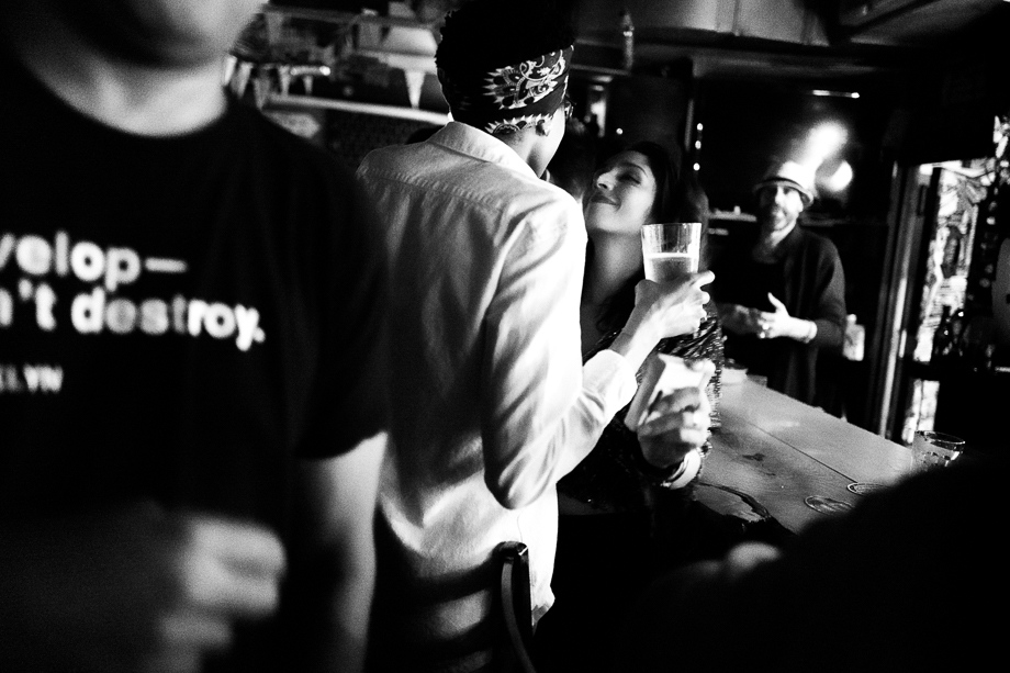 Photography image - At the Bait & Tackle, which is a dive bar in Red Hook Brooklyn, filled with neighbourly atmosphere where people are not afraid to express their feelings. A place of belonging, togetherness, and watching out for each other. Sadly, this bar will close its doors permanently in January 2018.