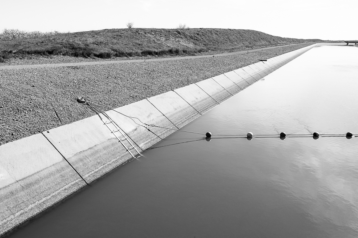 California Aqueduct near Gustine, CA 2017