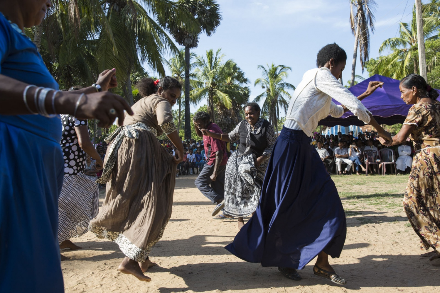 On September 24th 2017 the Afro-Sri Lankan community celebrated their 500 year anniversary since the first African ancestors were brought to Sri Lanka by the Portuguese. The event included acting on the stage and singing and dancing watched by hundreds of local people from Puttalam town. Puttalam, Sri Lanka - September 2017