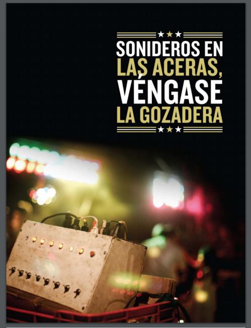 """Ebook cover 1/4 for """"Sonideros en las Aceras, Véngase la Gozadera"""". To view book: HERE  // Portada 1/4 del Elibro""""Sonideros en las Aceras, Véngase la Gozadera"""". Para ver el libro haz click AQUI ."""