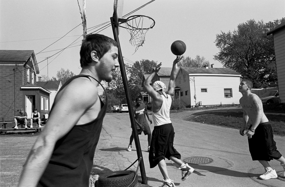 Hope Street Basketball game, Utica, NY 2003