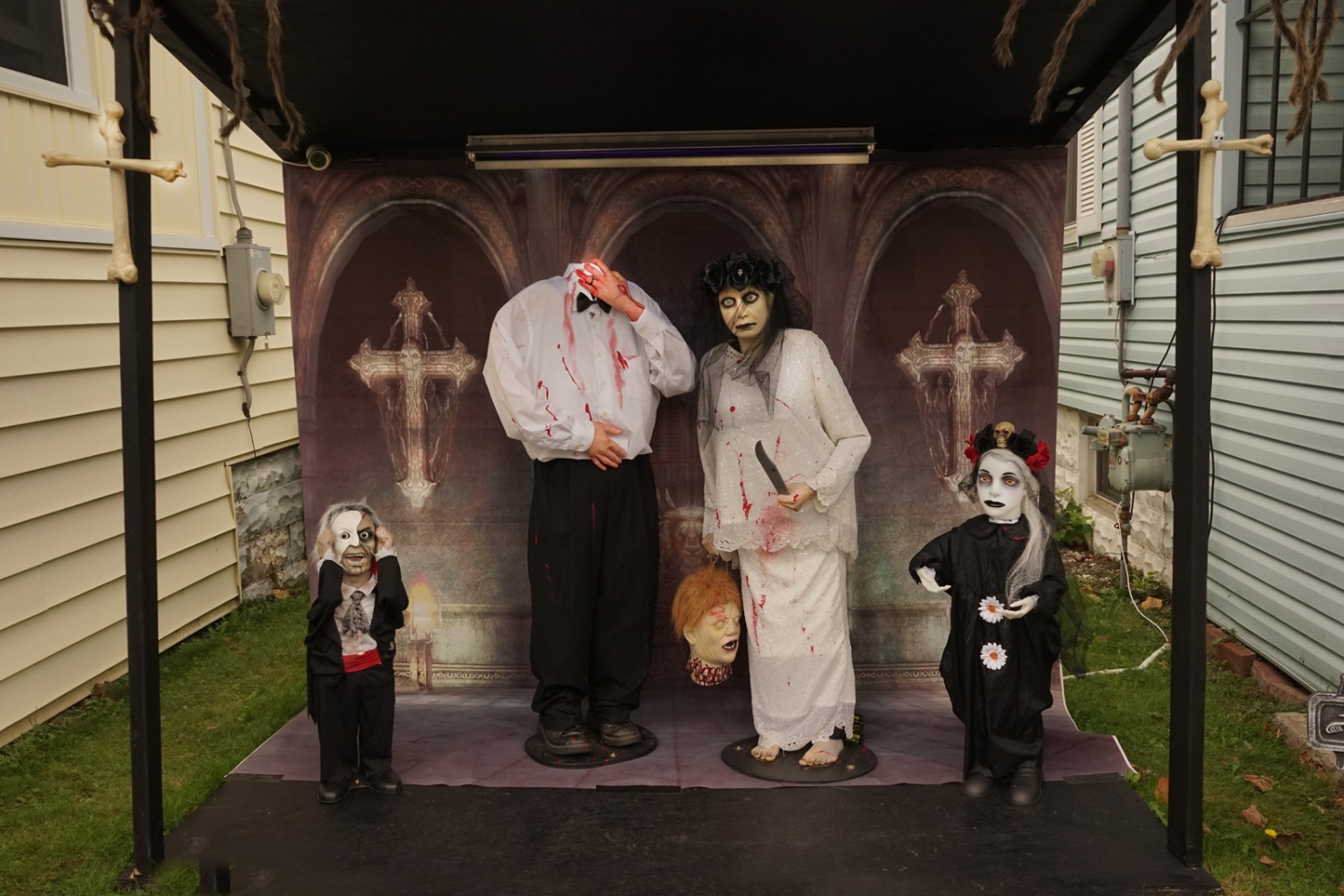 Halloween Tableaux, Old Burrstone Road, Utica,...