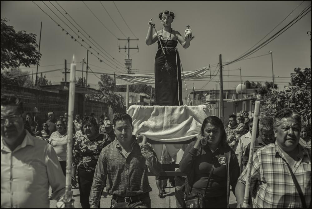 Procession, San Bartolo Coyotepec, Oaxaca, Mexico,2 November 2017 .
