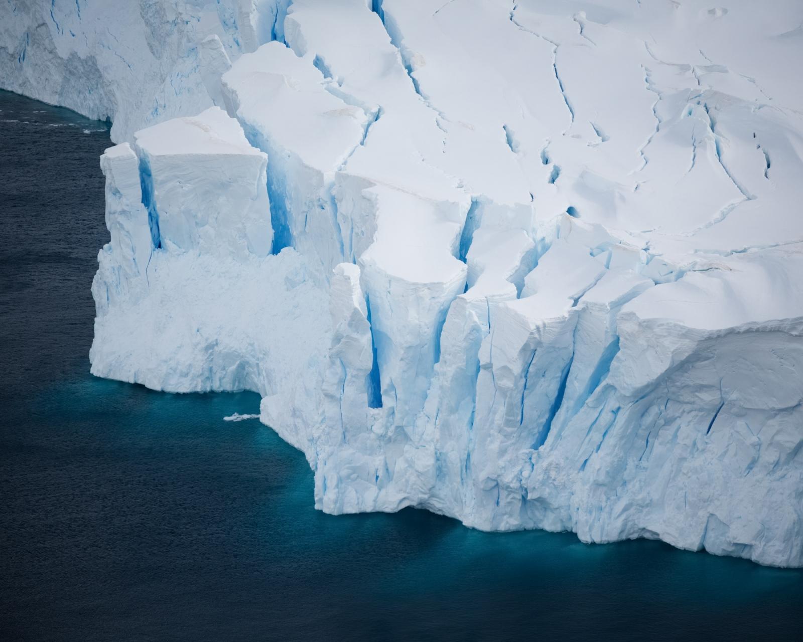 Glacier in Neko Harbour, Antarctica.