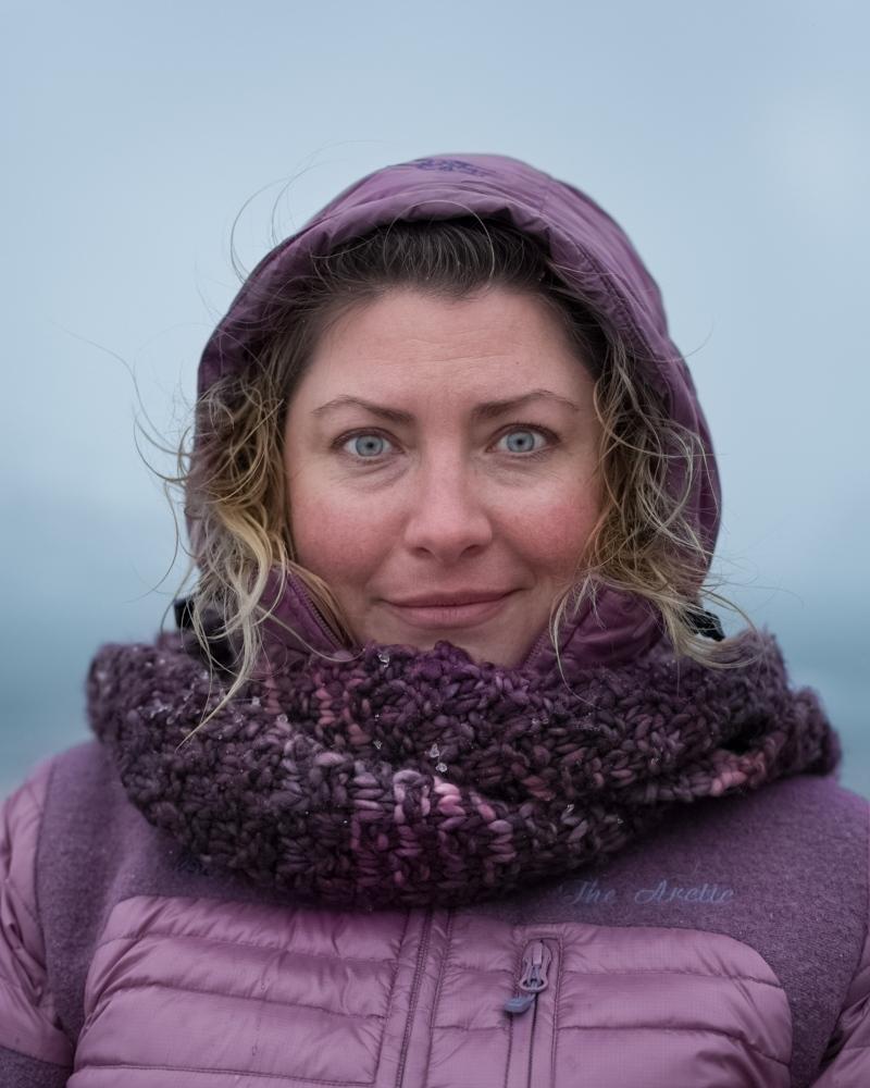 Naomi, expedition guide from Toronto, Canada. DeceptionIsland, South Shetland Islands.