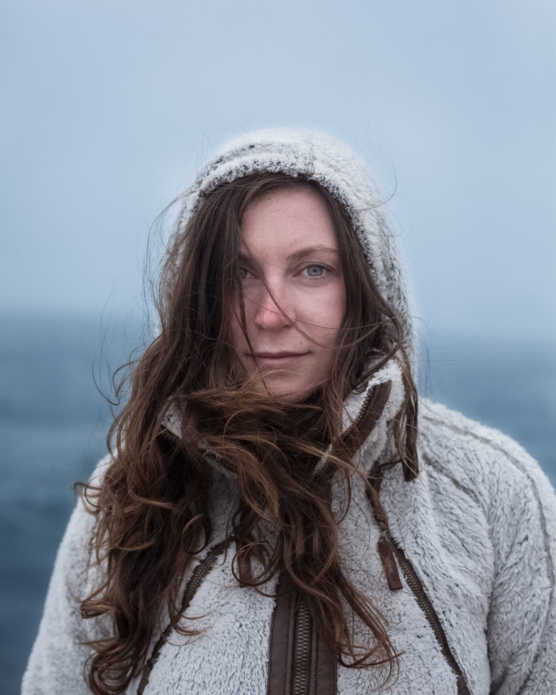 Jaymie, expedition guide from Toronto. South Shetland Islands.